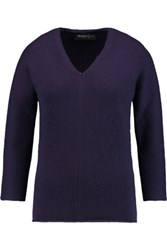 Pringle Of Scotland Ribbed Cashmere Sweater Dark Purple