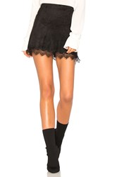 Cupcakes And Cashmere Crista Faux Suede Skirt Black