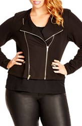Plus Size Women's City Chic Double Zip Jacket