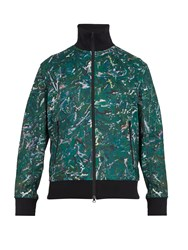 Y 3 Aop Zip Through Cotton Blend Jacket Multi