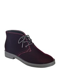 Marc Fisher Dixie Velvet Chukka Booties Burgundy