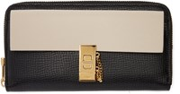 Chloe Black And Off White Drew Zip Wallet