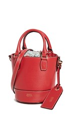 Frances Valentine Small Bucket Bag Red