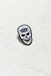 Urban Outfitters Stone Cold Steve Austin Skull Pin White