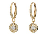 Swarovski Sparkling Pierced Earrings Gold White Earring Multi