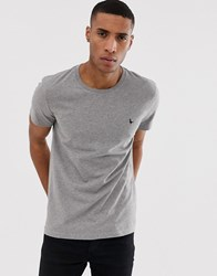 Jack Wills Sandleford Logo T Shirt In Grey Marl