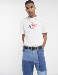 Tommy Jeans Nyc Small Chest Logo T Shirt In White