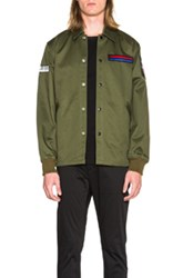 Opening Ceremony Symphony Patch Coach Jacket In Green