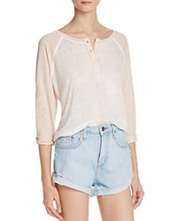 Rails Mikey Henley Baseball Tee White Blush