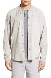 Men's Vince Suede Jacket Alloy