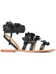 Tory Burch Blossom Gladiator Sandals Black