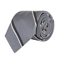 Polo Ralph Lauren Silk Stripe Tie Grey