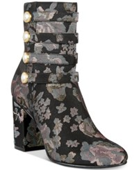 Kenneth Cole Reaction Time To Be Booties Women's Shoes Black Floral