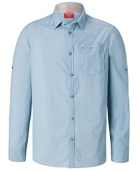 Craghoppers Nosilife Tatton Long Sleeve Shirt From Eastern Mountain Sports Fogle Blue
