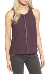 Trouve Women's Embellished Stripe Tank