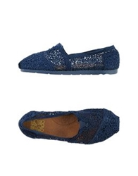 Colors Of California Ballet Flats Blue