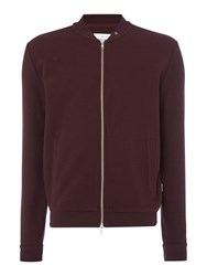 Peter Werth Men's Hustler Textured Jersey Zip Bomber Burgundy