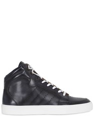 Ettore Bugatti Collection Perforated Leather High Top Sneakers