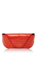 Smythson Mara Sunglasses Case Red