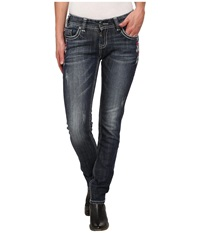 Rock And Roll Cowgirl Low Rise Skinny In Dark Vintage W0s3645 Dark Vintage Women's Jeans Navy