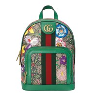 Gucci Online Exclusive Ophidia Gg Flora Small Backpack Beige