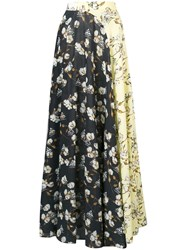 Off White Clash Floral Patterned Skirt Multicolour