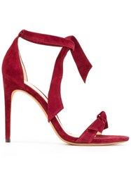 Alexandre Birman Knotted Stiletto Sandals Red