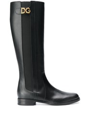 Dolce And Gabbana Dg Logo Boots Black