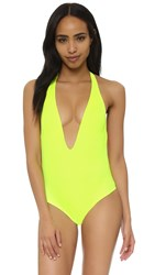 Peixoto Flamingo Swimsuit Neon Yellow
