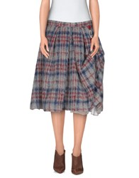 Calla Skirts Knee Length Skirts Women Light Grey