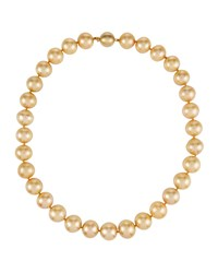 Belpearl 14K South Sea Pearl Necklace Golden