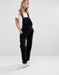 Lee Bib Cord Straight Leg Dungarees Black