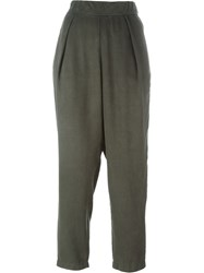 Raquel Allegra Pleated Front Trousers Green