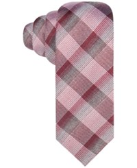 Alfani Men's Peninsula Plaid Tie Only At Macy's Red