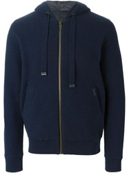 Bark Knitted Padded Jacket Blue