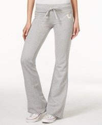 True Religion Drawstring Sweatpants Heather Grey