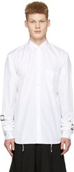 Comme Des Garcons Shirt White Adjustable Sleeves Shirt