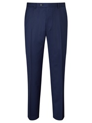 Paul Costelloe Super 110S Wool Flannel Modern Fit Suit Trousers Royal Blue