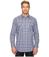 Pendleton Long Sleeve Frontier Blue Brown Ombre Men's Clothing
