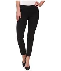 Dkny Bi Stretch Skinny Ankle Side Zip Pants Black Women's Casual Pants