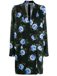 Essentiel Antwerp Floral Print Blazer Dress Black