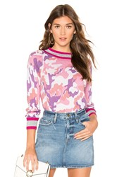 Central Park West Le Tahaa Crew Neck Sweater Pink