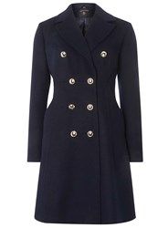 Dorothy Perkins Navy Double Breasted Dolly Duster Coat