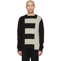 Rick Owens Black And Grey Biker Level Sweater