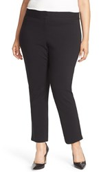 Vince Camuto Plus Size Women's Front Zip Slim Ankle Pants Rich Black