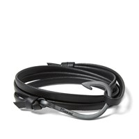 Miansai Black Hook Leather Bracelet