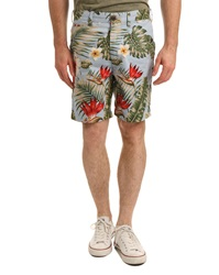 Penfield Floral Print Bermuda Shorts In Palm Blue