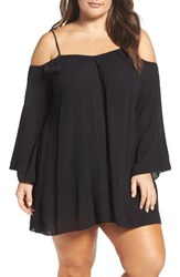 Elan Plus Size Women's Cold Shoulder Cover Up Tunic