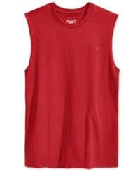 Champion Men's Jersey Muscle Tank Scarlet