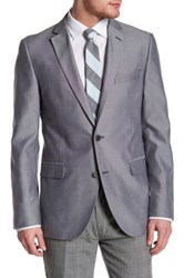 14Th And Union Two Button Notch Lapel Oxford Jacket Gray
